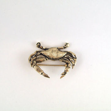 Vintage Jolle Crab Brooch; Chesapeake Blue Crab Collectible; Vintage Jewelry Gifts, Christmas or Birthday Presents