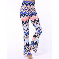 High Waist Zigzag Flare Pants