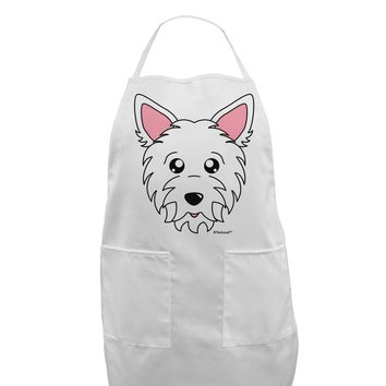 Cute West Highland White Terrier Westie Dog Adult Apron by TooLoud