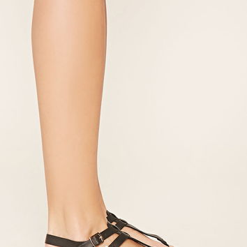Faux Leather Sandals | Forever 21 - 2000176885