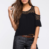 Breezy Cold Shoulder Blouse