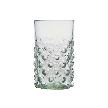 Clear Bumpy Glass Tumblers Set of Two