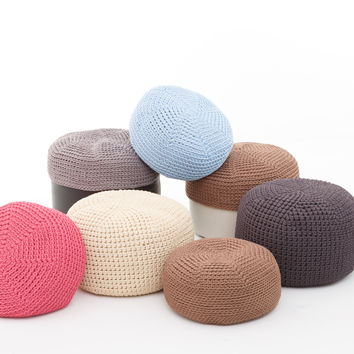 handmade crocheted  COVER for POUF