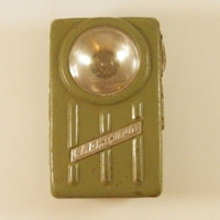 Vintage Military Green Army Torch, Gift for Him, USSR Cold War Collectible flashlight personal military