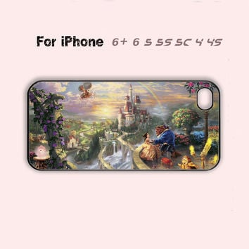 Gorgeous Disney Beauty and the Beast Cool Phone Case Cute iPhone 4 4s 5 5c 5s 6 6+-5 Colors Available