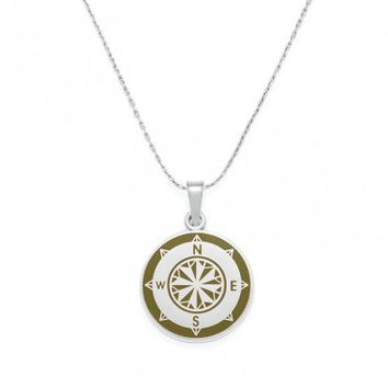 Avocado Compass Expandable Necklace