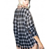 Wildfox Couture Dirty Flannel Button-Down Shirt | Dolls Kill