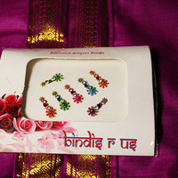 Star Shape Bindi and  Forehead Jewelry Decorations & Forehead Makeup.