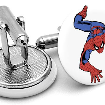 Spiderman Comic Cufflinks