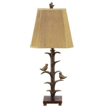 2 Table Lamps - Bird