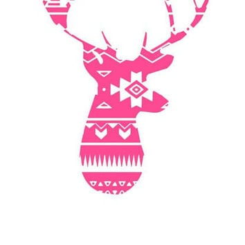 Aztec Buck Deer Window Decal Buck Deer Vinyl Decal