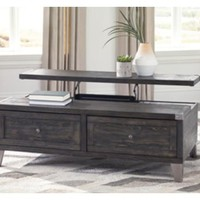 T901-9 Todoe Lift Top Cocktail Table - Dark Gray - Free Shipping!