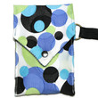Cell Phone Wallet - Black Blue white - bubble by chelisworld on Zibbet
