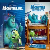 Monsters Inc. DVD & Monsters University DVD Set of 2 Movies