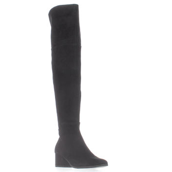 STEVEN Steve Madden Vaydan Over The Knee Boots, Black, 6 US