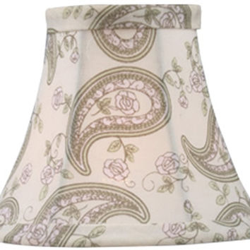 0-011623>2.5x5x4 Chandelier Bell Lamp Shade Paisley