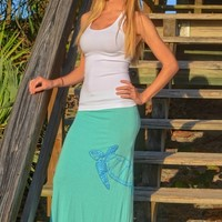 Mint juniors turtle maxi skirt
