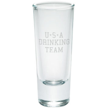 July 4th USA Drinking Team Etched Shot Glass Shooter