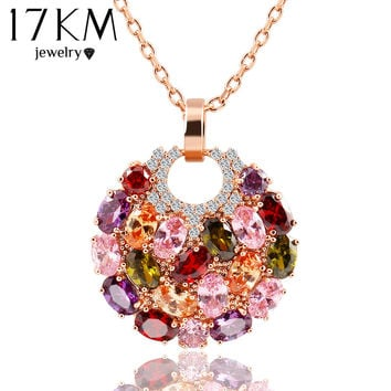 17km Trendy Crystal Zinc Alloy Link Chain For Women Necklace