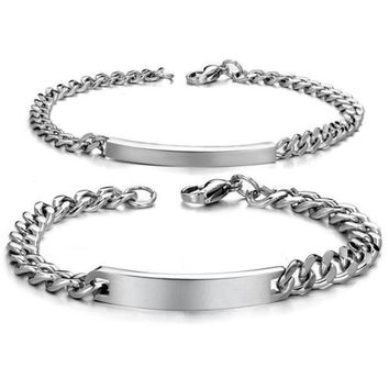 PEAPIX3 Fashion New 2015 Bracelets Accessories Streamline Smooth Couples Stainless Steel Bangle Bracelet  2 Pieces Pulseras Best Gifts = 1929995780