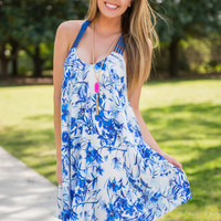 Far Away From Here Dress, Royal Blue