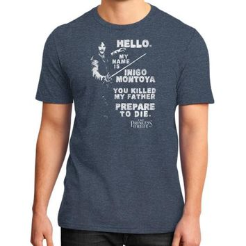 HELLO MY NAME IS District T-Shirt (on man)