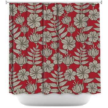 Shower Curtains By Julia Grifol Kenia 1 Red