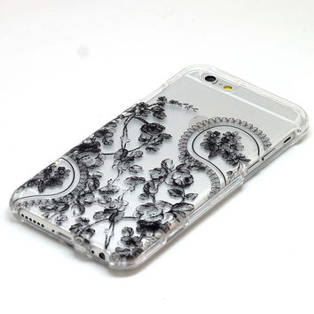 Paisley Floral Henna Black Design Case iPhone 6, 6 Plus, 5, 5C, 5S, Galaxy S4, S5, S6, Note 4