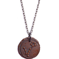 Wax Seal Pisces Constellation Necklace