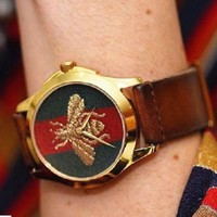 ONETOW Day-First? GUCCI Ladies Watch Little bee Ltaly Stylish Watch H-PS-XSDZBSH