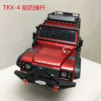1/10 Rc Climbing Car Part CNC Metal Alloy Front Bumper Collision FOR TRAXXAS TRX-4 TRX4 Axial Scx10 Including Lights