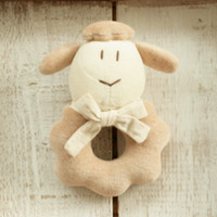Nini The Lamb Organic Cotton Rattle