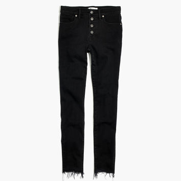 """9"""" High-Rise Skinny Jeans in Berkeley Black: Button-Through Edition : shopmadewell high-rise skinny jeans 