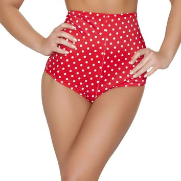 Roma Rave SH3090 - Red/White High-Waisted Shorts