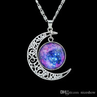 Trendy Jewelry Colorful Earth And Moon Shape Design Pendant Necklace For Women Cheap Costume Jewelry