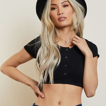 Sarah Ribbed Cropped Top