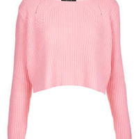 Petite Clean Ribbed Cropped Jumper
