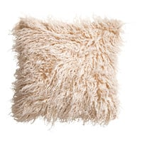 H&M - Faux Fur Cushion Cover - Natural white