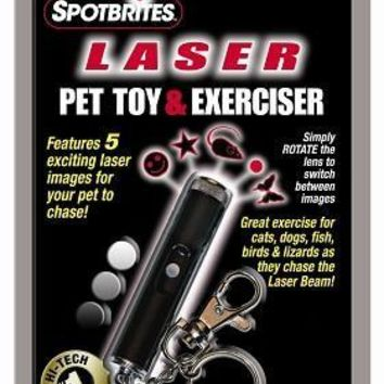 Spotbrites Hologram & Light Cat Laser Pet Exerciser Toy 4""