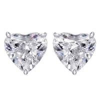 4 Carat Heart Shaped Studs