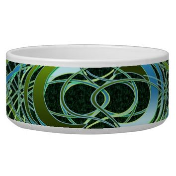 Green n Blue Swirls Bowl