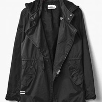 publish - men's silmore trench jacket (black) - Publish | 80's Purple