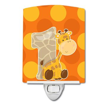 Zoo Month 1 Giraffe Ceramic Night Light BB9008CNL