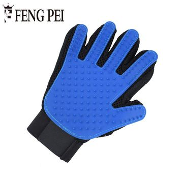 Dog Grooming Blue Glove Comb for Animals