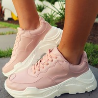 So 90's Sneakers: Blush/White