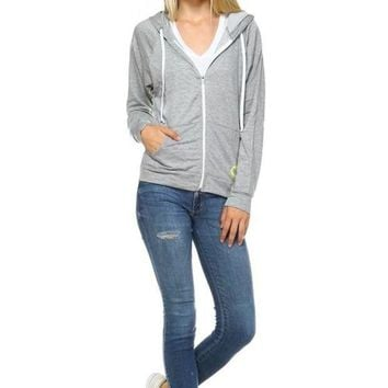 DCCKM83 Women's Zip Up Hoodie Sweater