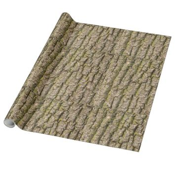 Funky Tree Bark Wrapping Paper