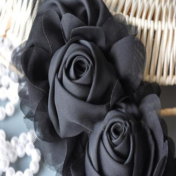 Decorative Designs Chiffon Flower Hairpin Corsage Clothing Design Accessory
