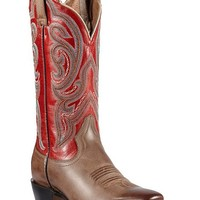 Ariat Angelica Scarlet Stitched Cowgirl Boots - Square Toe - Sheplers