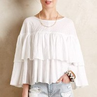 Tiered Zarela Top by Tryb White